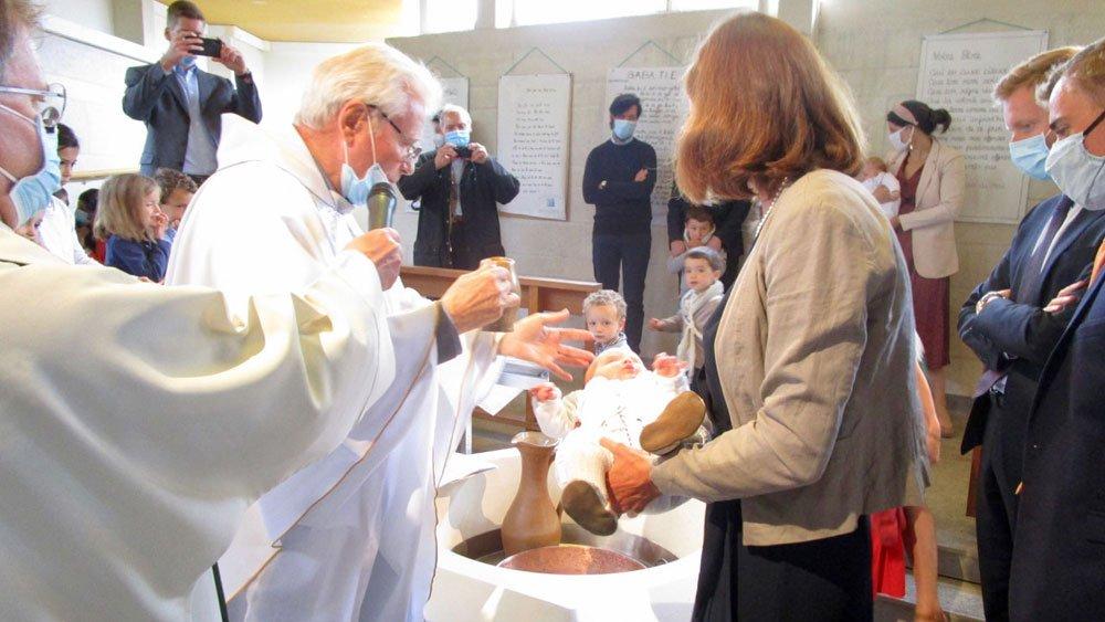 Baptême en l'église de Saint-Laurent